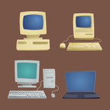 Retro computer item classic antique technology style business personal equipment and vintage pc desktop hardware Stock Image
