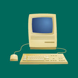 Retro computer item classic antique technology style business personal equipment and vintage pc desktop hardware Stock Photos