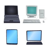 Retro computer item classic antique technology style business personal equipment and vintage pc desktop hardware Royalty Free Stock Photo