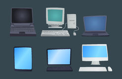 Retro computer item classic antique technology style business personal equipment and vintage pc desktop hardware Royalty Free Stock Image