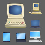 Retro computer item classic antique technology style business personal equipment and vintage pc desktop hardware Stock Photography