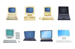 Retro computer item classic antique technology style business personal equipment and vintage pc desktop hardware Royalty Free Stock Photos