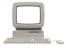 Retro Computer. With monitor keyboard and mouse Stock Images