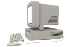 Retro Computer. With monitor keyboard and mouse Stock Photo