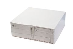 Retro- Computerkasten Lizenzfreies Stockbild
