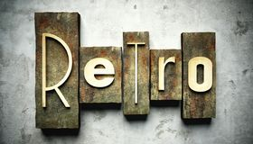 Retro concept with vintage letterpress Royalty Free Stock Image