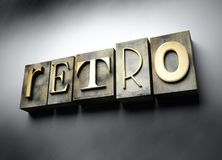Retro concept, vintage letterpress text vector illustration