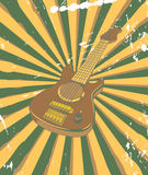 Retro concert poster. Vector retro concert poster with guitar Stock Images