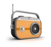 Retro concetto radiofonico. Fotografia Stock