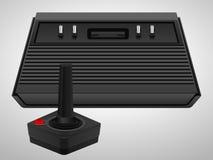 Retro console and joystick Stock Image