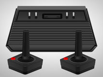 Retro console and joysticks Royalty Free Stock Images