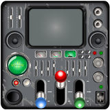 Retro control panel Royalty Free Stock Photos