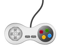 Retro controller (joystick) with usb cable Stock Photo