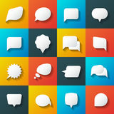 Retro converse speech bubble vector icons. Communication elements for conversation and message illustration stock illustration
