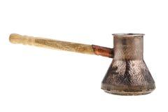 Retro copper coffee pot Royalty Free Stock Photos