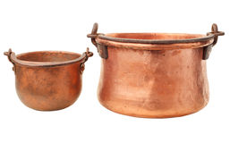 Retro copper pot Stock Photography