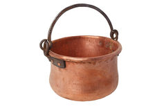 Retro copper pot Royalty Free Stock Photo