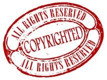 Retro copyrighted zegel royalty-vrije illustratie
