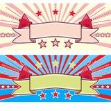 Retro Correcte Banner Royalty-vrije Stock Foto's