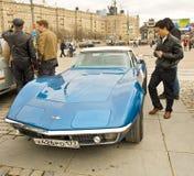 Retro corvetta di Shevrolet dell'automobile Fotografia Stock Libera da Diritti