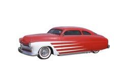 Retro coupé rosso e bianco immagini stock libere da diritti
