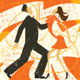 Retro couple dancing Stock Photo