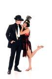 Retro couple, Lindy Hop Stock Images