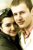 Retro couple portrait Stock Photos