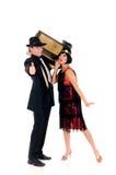 Retro couple radio Royalty Free Stock Photo