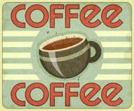 Retro Cover for Coffee Menu Stock Image