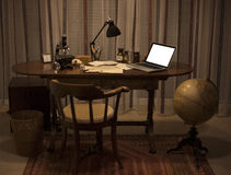 Retro cozy office vintage style Stock Images