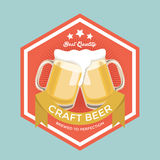 Retro Craft Beer Sign Royalty Free Stock Images