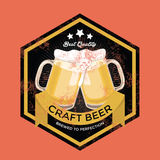 Retro Craft Beer Sign Stock Image