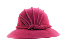 Retro crimson hat on white Stock Image