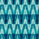 Retro crystal triangle seamless pattern Stock Photography