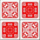 Retro cube tiles Stock Photos