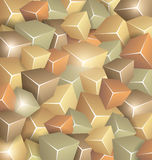 Retro Cubes Background. Background made of Retrol Cubes Royalty Free Stock Image