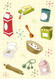 Retro cuisine icon set Royalty Free Stock Images