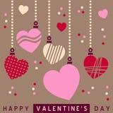 Retro cuori dei biglietti di S. Valentino della st [2] Fotografie Stock