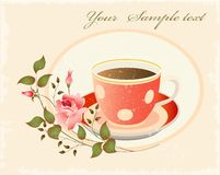 Retro cup of coffe Royalty Free Stock Images
