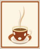 Retro cup of coffee Royalty Free Stock Photos