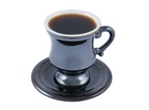 Retro cup of coffee Stock Image