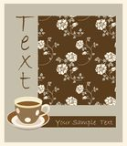 Retro cup of tea royalty free illustration