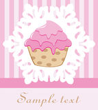 Retro cupcake Stock Image