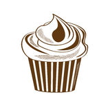 Retro cupcake design Royalty Free Stock Photo