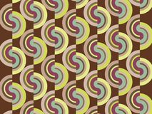 Retro curve disc stripes Stock Photos