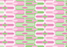 Retro curves candy pink green Royalty Free Stock Photo