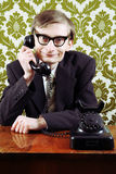 Retro customer service Stock Image