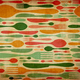 Retro cutlery pattern background Stock Photography