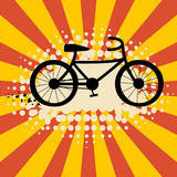 Retro cycling background Stock Photo